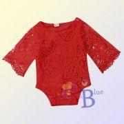 Body rendado vermelho