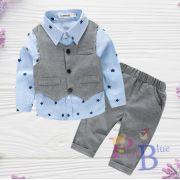 Conjunto camisa, calça e colete Breno