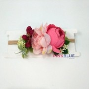 Faixa colorida de flores