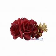 Faixa flores vermelha