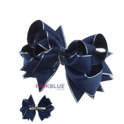 Laço boutique azul com detalhe prata