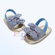 Sandália listrada azul