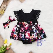 Vestido body Luisa preto floral