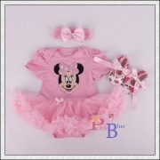 Vestido body Minnie Rosa