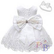 Vestido laço branco