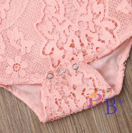 Body rendado rosa