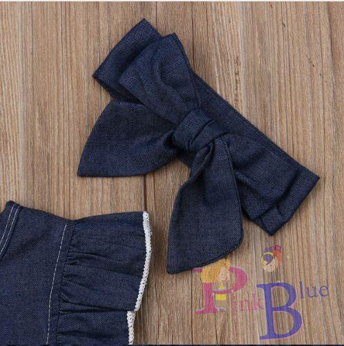 Romper jeans Amor perfeito