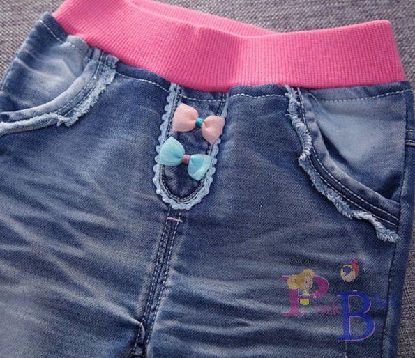 Calça jeans bordada