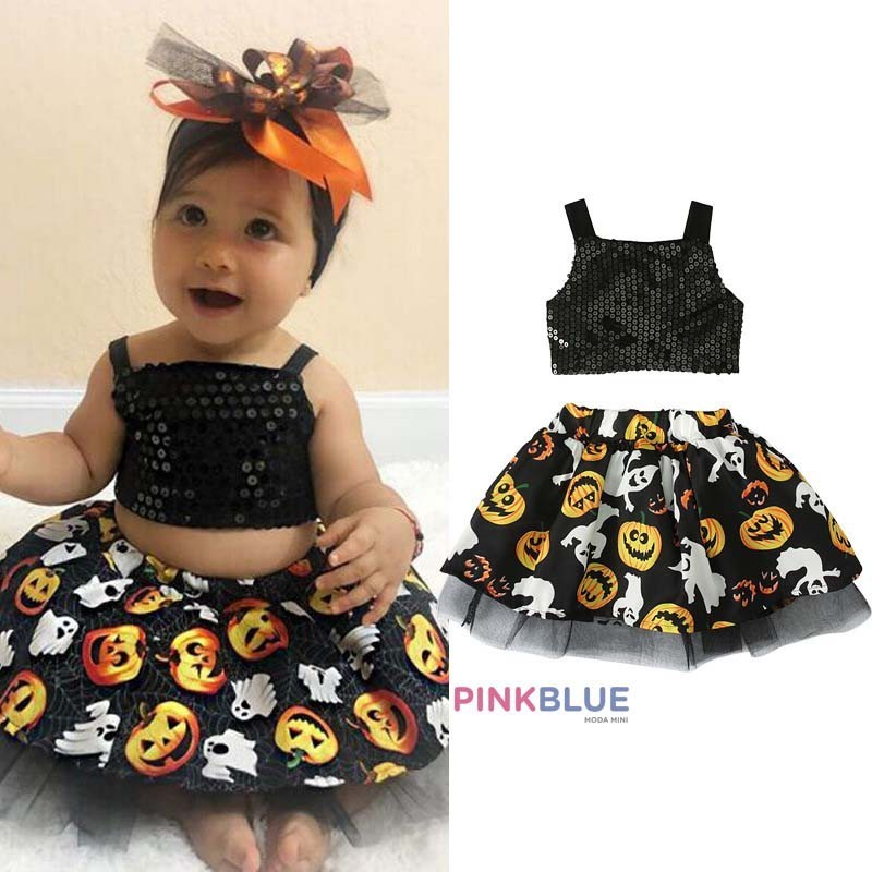 Conjunto black halloween