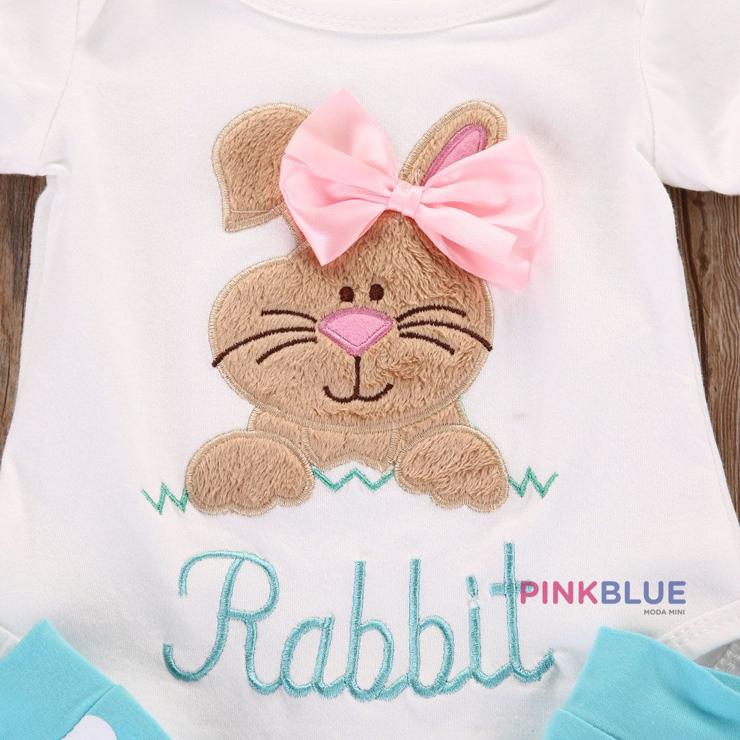 Conjunto body com meia rabbit