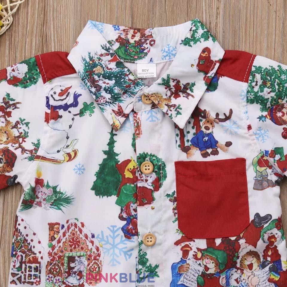 Conjunto camisa e short de natal
