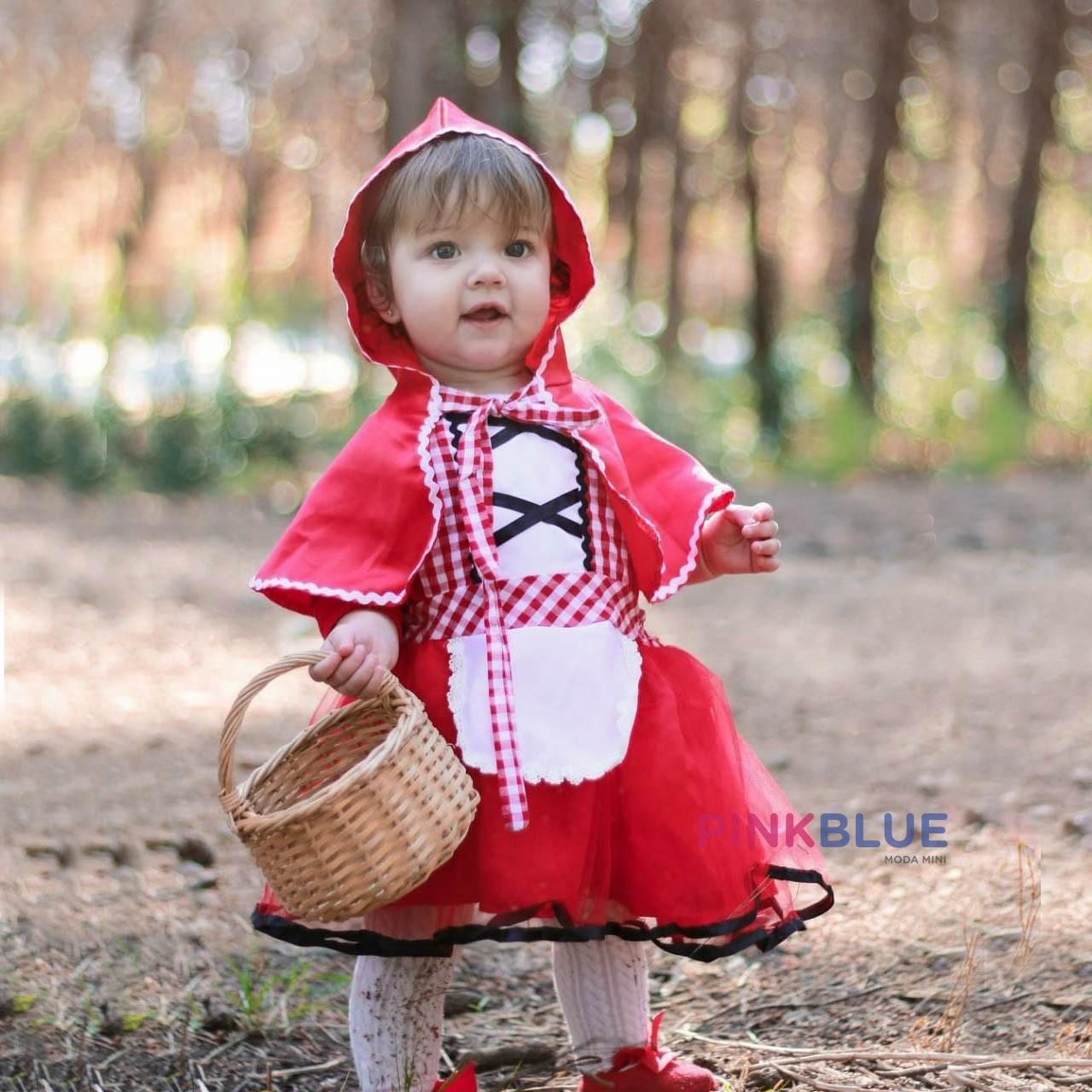 Conjunto chapéuzinho vermelho