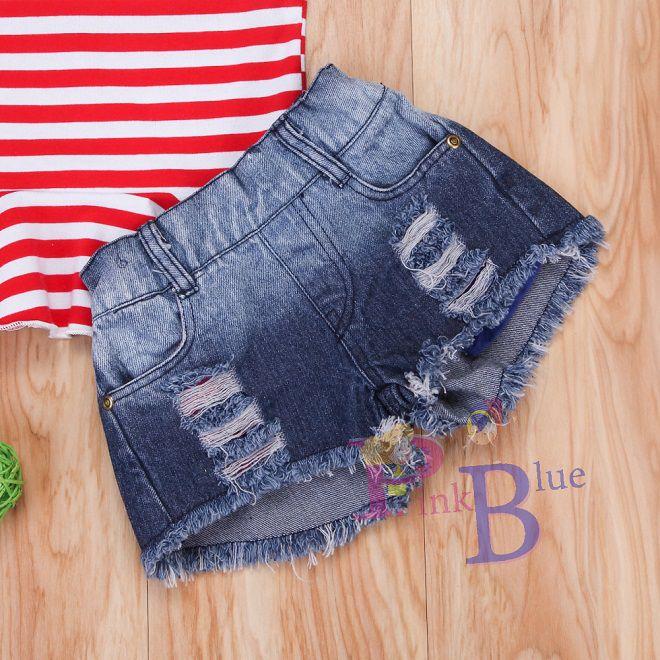 Conjunto peplum e short jeans Micaela