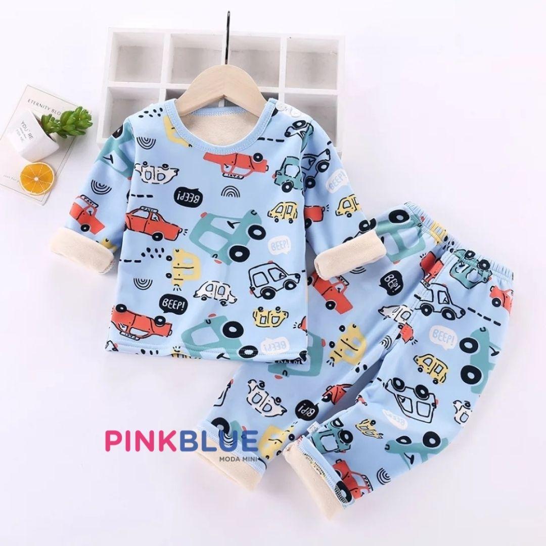 Conjunto quente de inverno estilo pijama