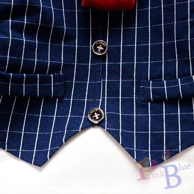 Conjunto xadrez com colete e gravata