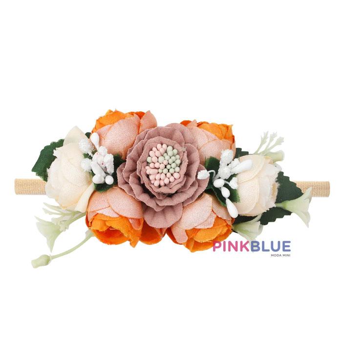Faixa flores terracota