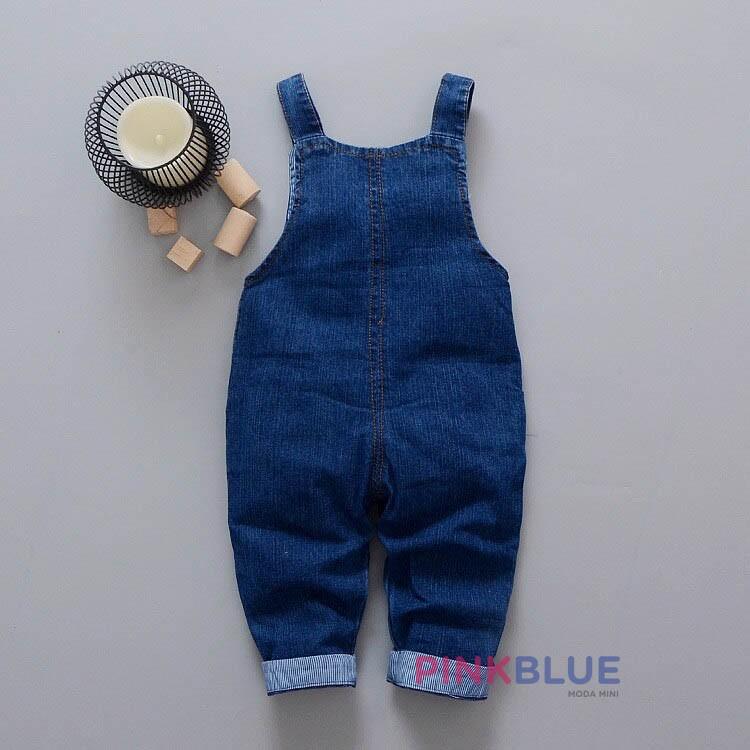 Jardineira (macacão) Jeans pelúcia
