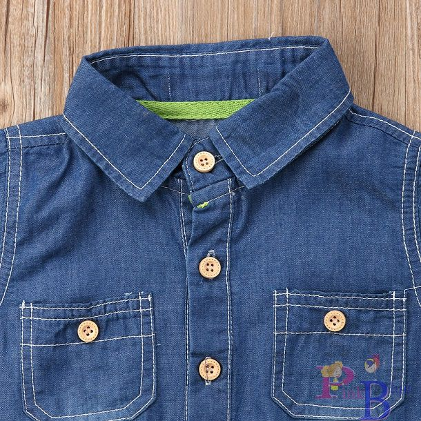 Macacão curto jeans