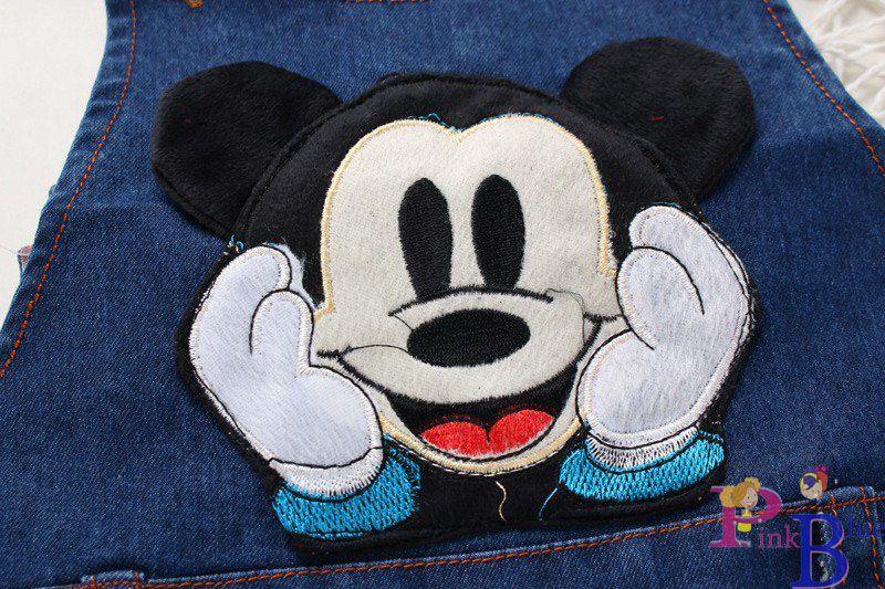 Jardineira (macacão) Jeans Mickey