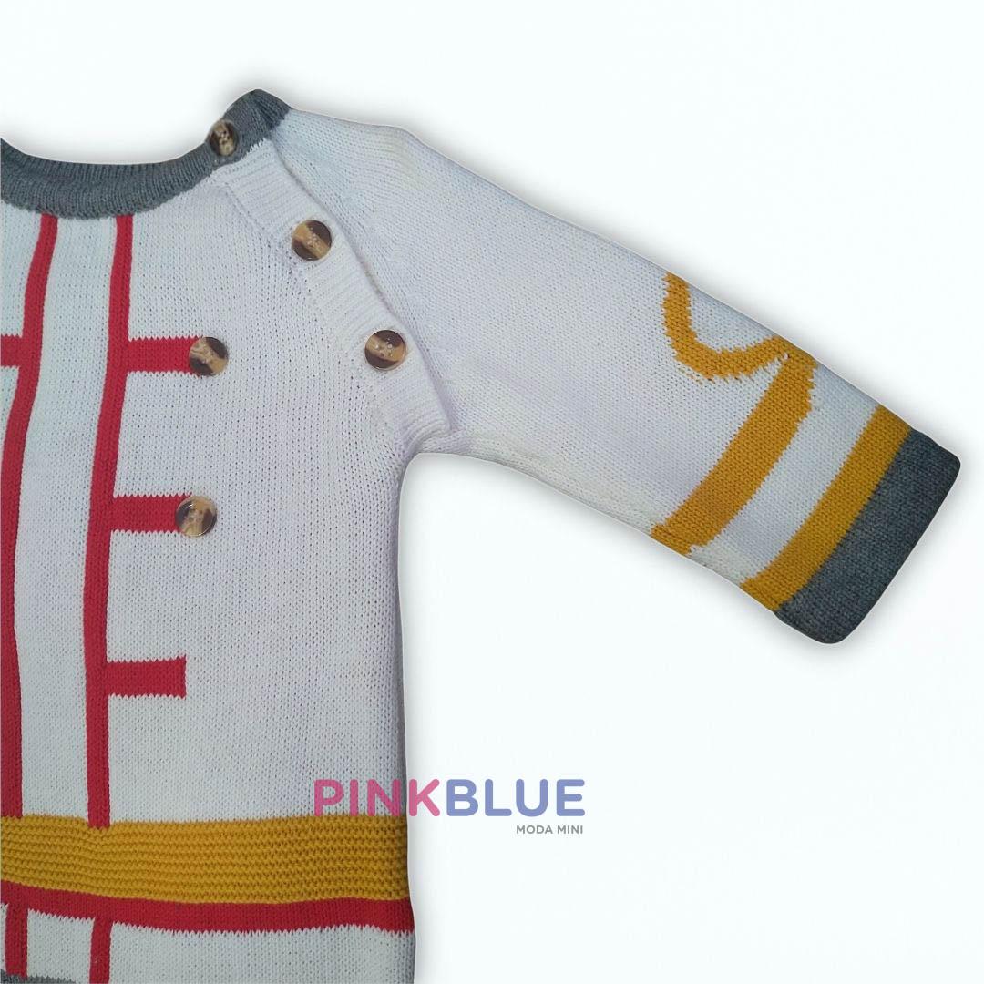 Macacão longo em tricô príncipe
