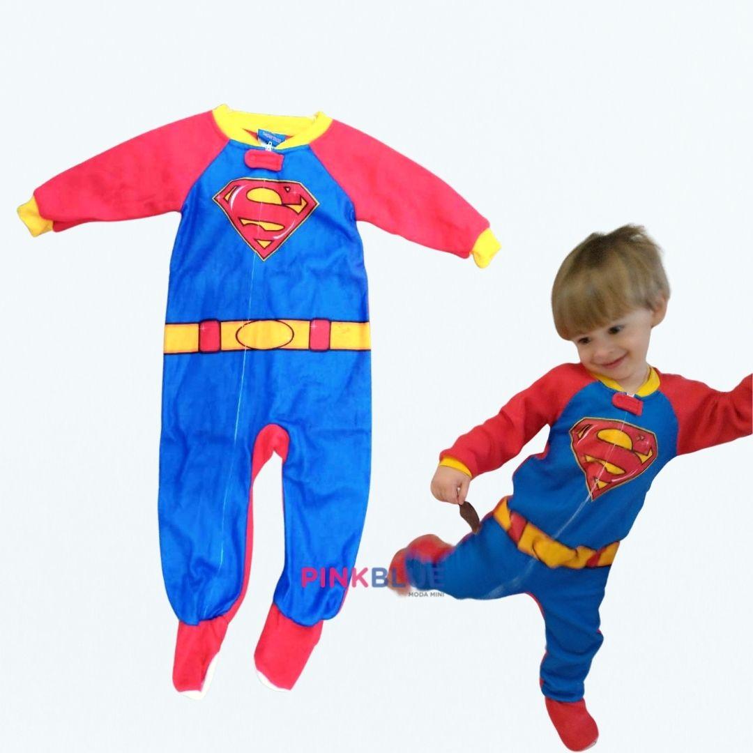 Macacão superman em plush