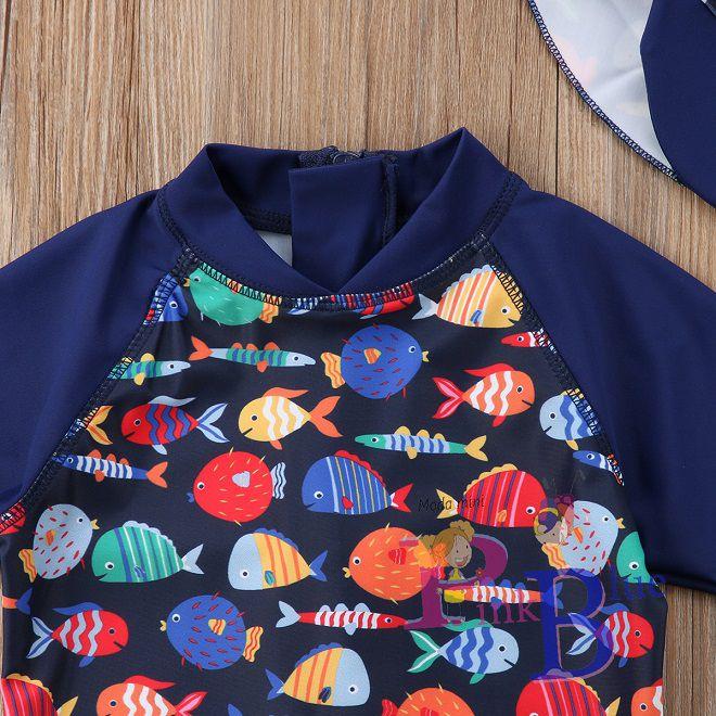 Macaquinho + boné peixinhos