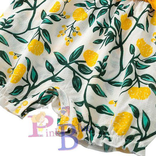 Macaquinho floral com laços Acácia