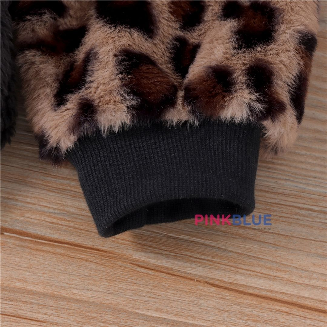 Pullover leopardo lã de ovelha