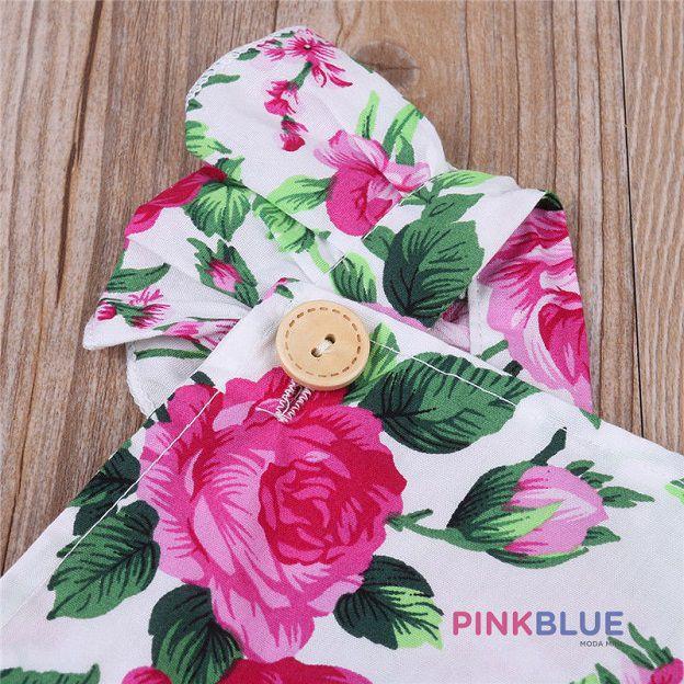 Romper floral Rose pink