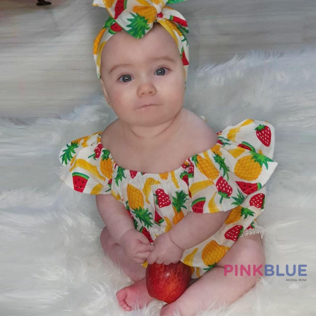 Romper frutas ciganinha  + faixa