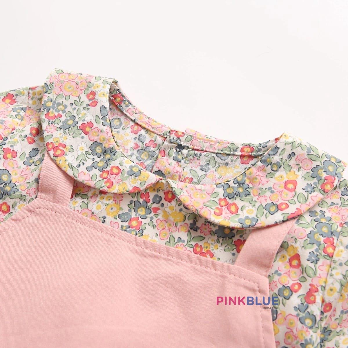 Romper manga longa floral