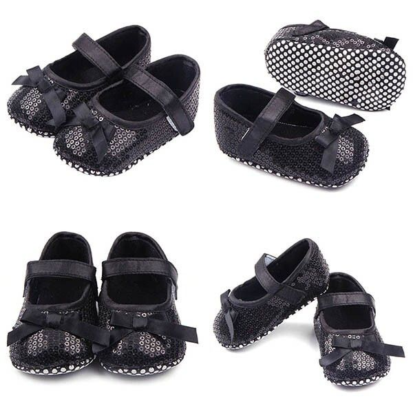 Sapato sapatilha preta de lantejoulas