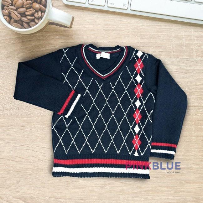 Sueter tricô menino