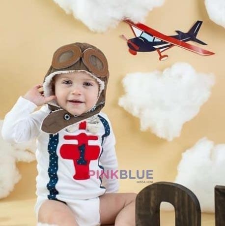 Touca aviador marrom