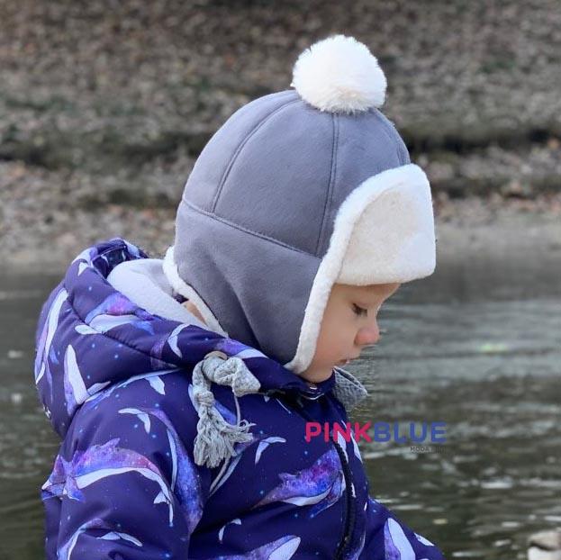 Touca de inverno com pompom