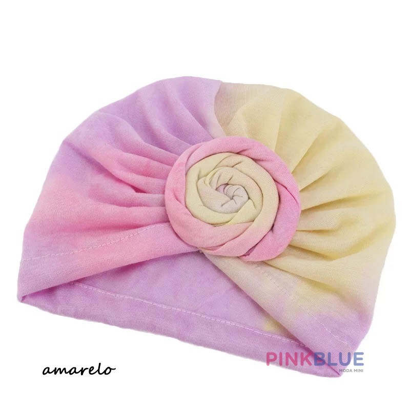 Touca turbante tie dye