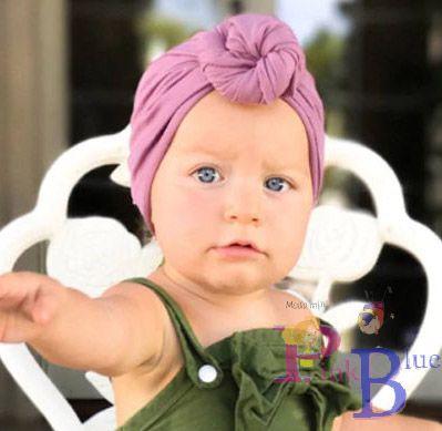Touca turbante Zoe com nó - plush