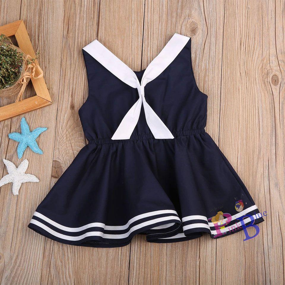Vestido azul marinheiro