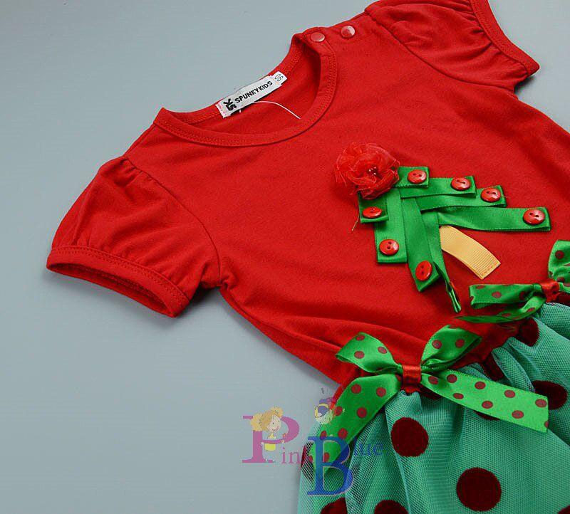 Vestido bolinhas de Natal