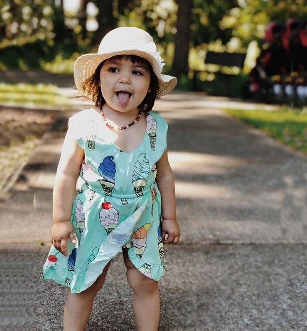 Vestido com calcinha estampado sorvete