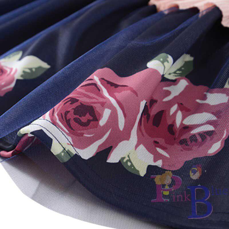 Vestido flores malha canelada