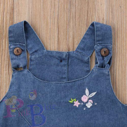 Vestido jeans bordado Anne