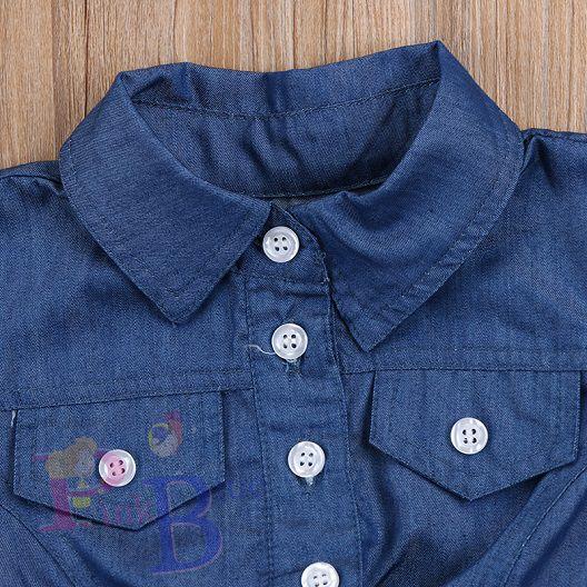 Vestido jeans com tule Debora