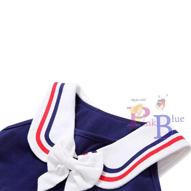 Vestido marinheiro em viscose