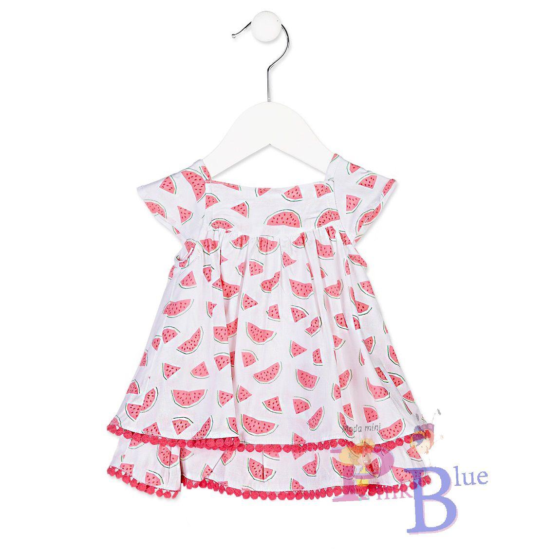 Vestido melancia + calcinha