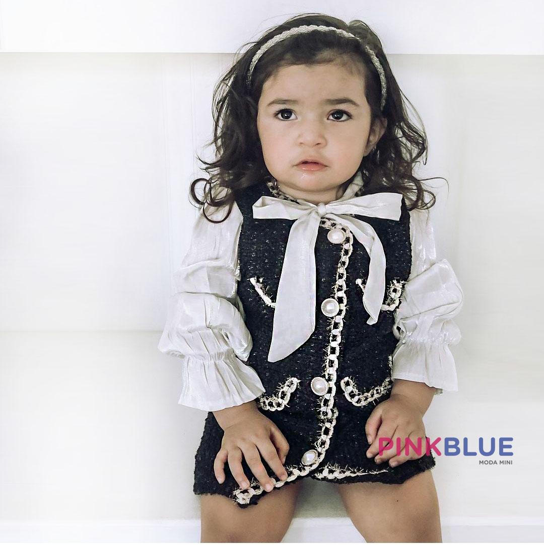 Vestido tweed luxo