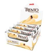 CHOCOLATE BRANCO COM WAFER TRENTO RECHEIO CHOCOLATE C/16 - PECCIN