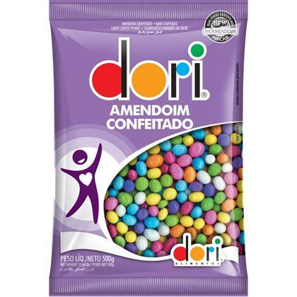 AMENDOIM COLORIDO DORI 500GR