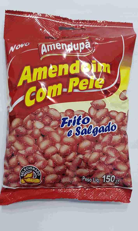 AMENDOIM FRITO C/ PELE AMENDUPÃ 150G