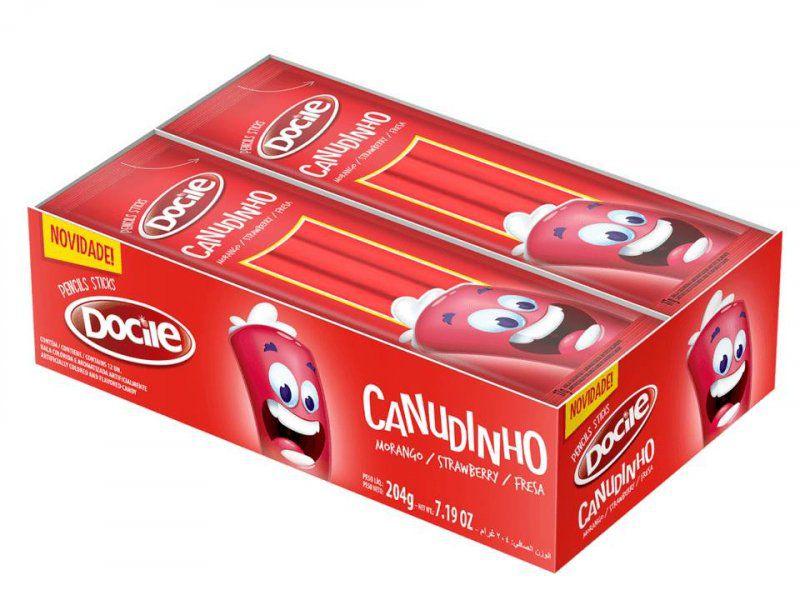 BALA CANUDINHO MORANGO  C/12 - DOCILE